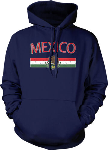 Mexican Pride Soccer Hoodie Pullover Mexico Distressed Country Flag