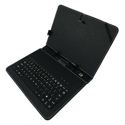 "For 10.1"" Tablet PC PU Flip Leather Stand Case Cover Skin USB 2.0 Keyboard"