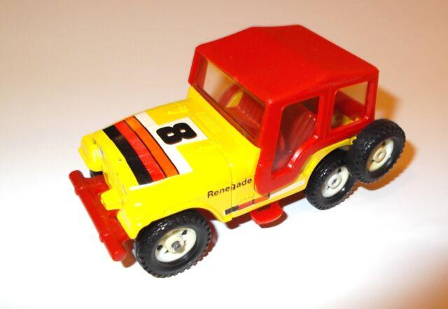 """Jeep CJ-5 cj5 Renegade """"8"""" gelb yellow Hardtop hard top rot red, Corgi in 1:36!"""