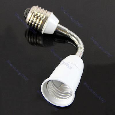 New 16cm E27 to E27 Flexible Extend Base LED Light Lamp Adapter Converter Socket