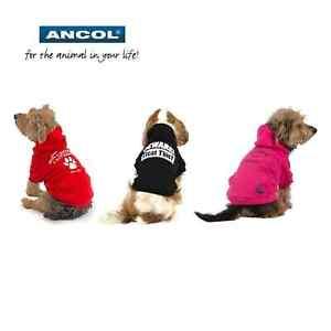 Ancol-Perro-Invierno-Capucha-Calido-Lindo-Cachorro-Chaqueta-Jersey-Ropa
