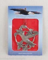 Heritage Pewter Christmas Ornament - Hummingbird