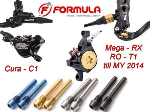 FORMULA till 2014 43/% lighter+heat shield 2 brake pad axles in Titanium Cura
