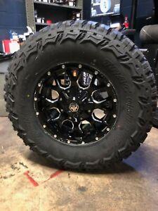 "Tire And Rim Package >> 17x9 Mayhem 8015 Warrior 33"" MT Wheel & Tire Package 5x5 Jeep Wrangler JK JL | eBay"