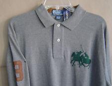 NWT $145 POLO RALPH LAUREN Mens L DUAL MATCH Gray L/S CLASSIC FIT Cotton Shirt