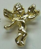 Guardian Angel Classic Lapel In Gold Plate, Made In Usa By Osc,