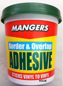 Details About Tub Of 500g Mangers Border And Overlap Adhesive Vinyl Wallpaper Paste Stick Glue