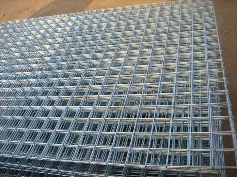 Welded Wire Mesh Panel 8ft X 4ft Galvanised Steel Sheet Metal Grid 1 ...