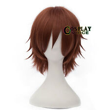 Party 8 Colors 30cm Heat Resistant Layered Short Straight Anime Cosplay Wig+Cap