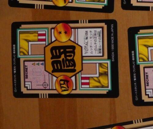 DRAGON BALL GT Z DBZ HONDAN PART 27 CARDDASS DP CARD CARTE 54 MADE IN JAPAN NM
