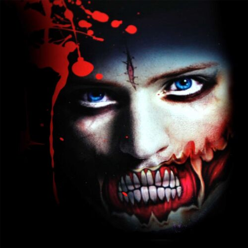 Details about  /Big Mouth Temporary Halloween Tattoos Costume Fancy Dress Zombies Scars Make Up