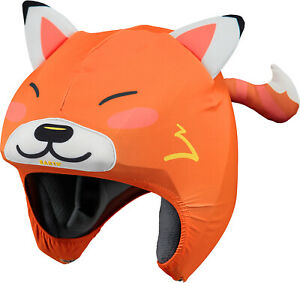 2021 BARTS ORANGE RED FOX 3D SKI BOARDING HELMET COVER BIKE