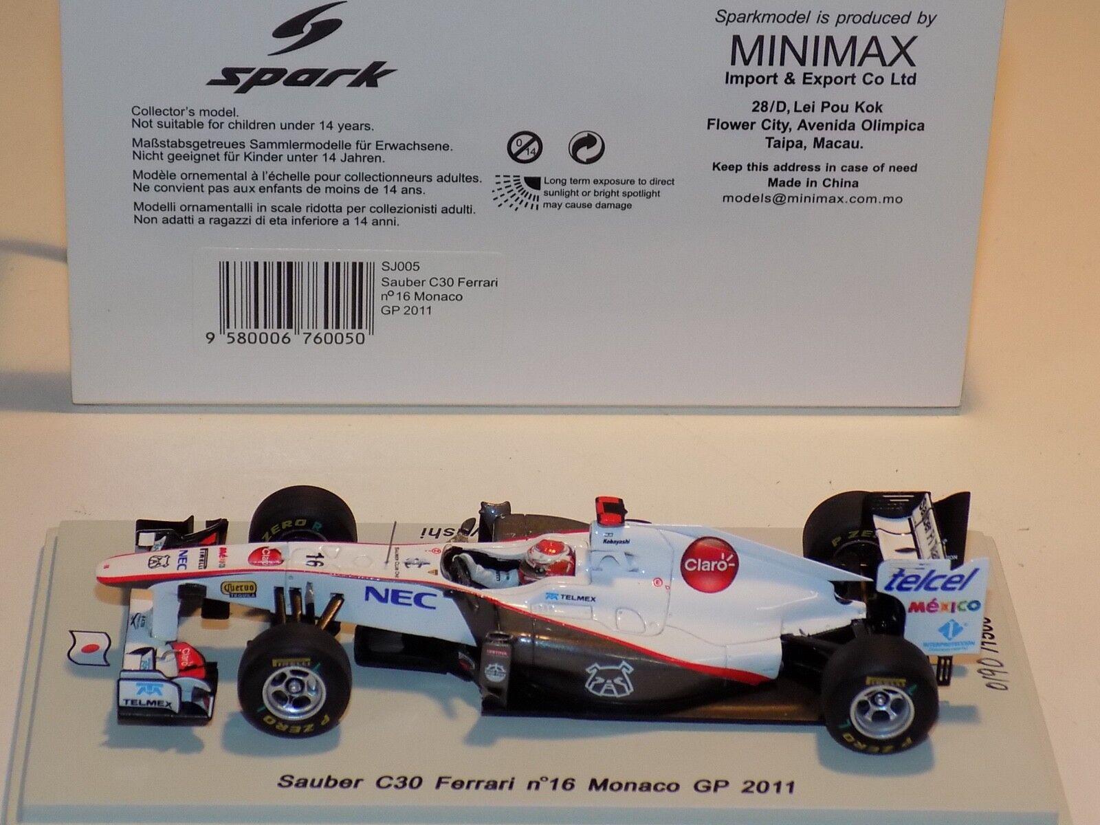 1 43 Spark Sauber C30 Ferrari  Monaco GP Kamui Kamui Kamui Kobayashi SJ005 5fcad1
