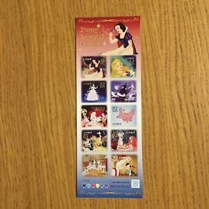 JAPAN-DISNEY-ANIMATED-CLASSIC-Stamps-x-10-Nuovi-Animation