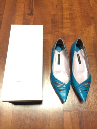 T 5 38 Shoes Chaussures Turquoise Jacobs Marc Bleu Ballerines 1BAHX