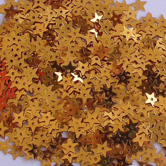 Sequins Tiny White Iris Stars ~800 pieces  Loose