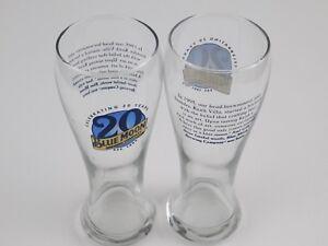 Blue-Moon-Beer-20th-Anniversary-Pilsner-Glass-16oz-Set-of-2-Glasses-NEW