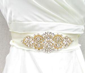 Details Zu Gold Elfenbein Silber Perle Gürtel Schärpe Vintage Kristall Hochzeit 20s 932