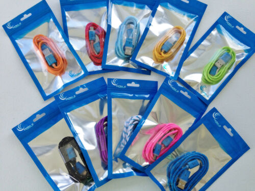 FLASH BRAIDED LED light charger cable FOR apple iphone 6 5 4 galaxy s3 micro USB
