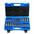 32PC Master Hex Bit Set SAE Metric Socket Set Standard Allen S2 Steel 1/4