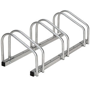 3 Bicycle floor wall mount bike stand cycle rack holder storage ...