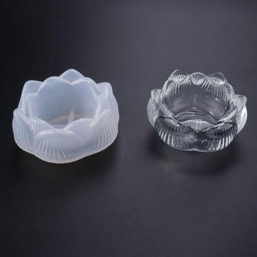 DIY Kristall Epoxidform Lotus Kerzenhalter Aschenbecher Spiegel Silikonform