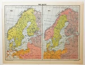 Historical map the baltic 1789 1914 sweden norway denmark finland image is loading historical map the baltic 1789 amp 1914 sweden gumiabroncs Images