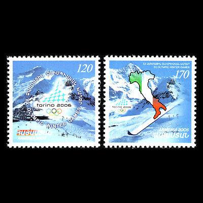 Sc 728/9 Mnh Invierno Juegos Olímpicos Steady Armenia 2006 Italia Turin