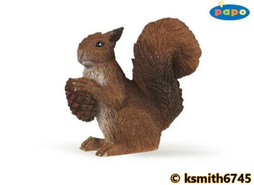 Papo écureuil roux solide Jouet en plastique Wild Zoo Woodland Animal Rongeur * NOUVEAU *