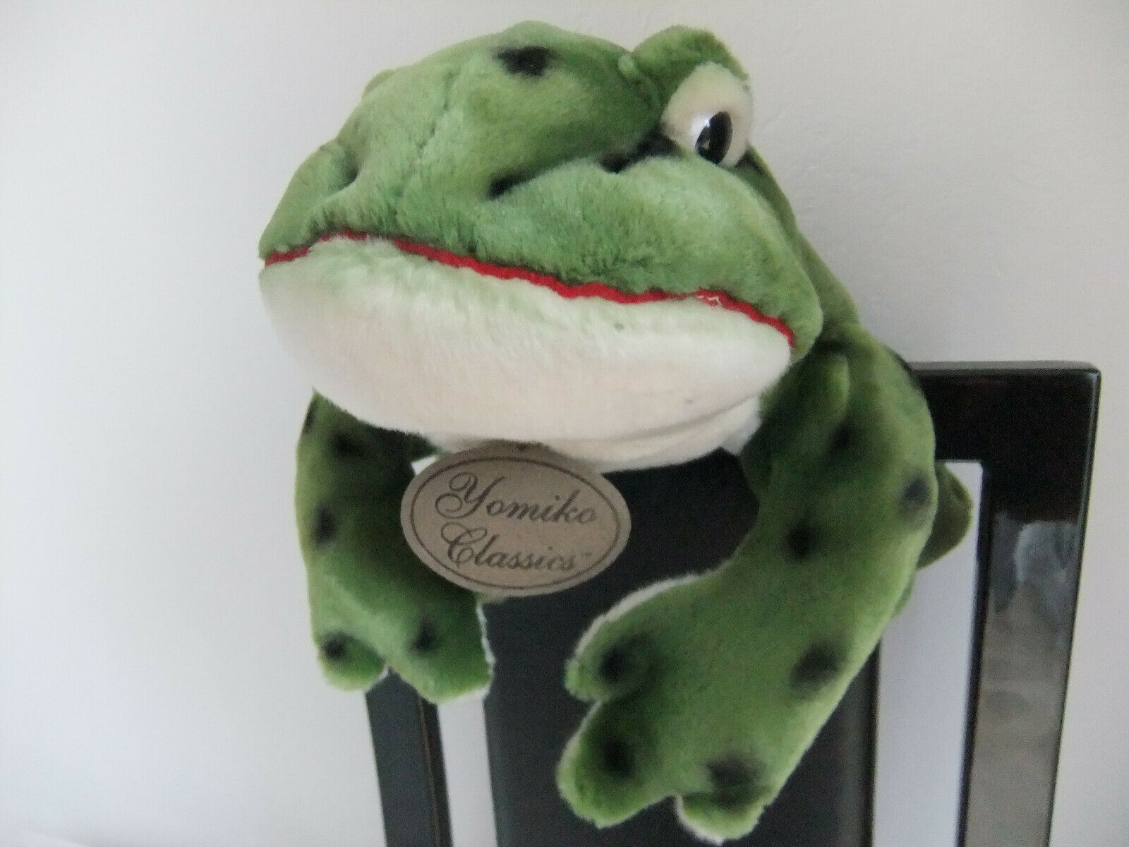 15  YOMIKO CLASSICS GREEN FROG RUSS BULL BULLFROG SOFT CUDDLY TOY NEXT EASTER