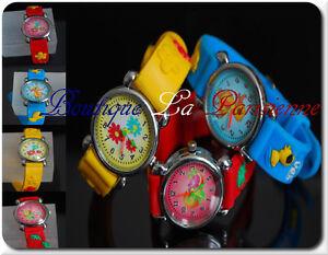 Children Silicone Wrist Watch Children Jewellery 28 Motif Duck Flowers