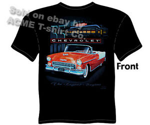 chevy shirt chevrolet clothing classic car shirt 1955 55. Black Bedroom Furniture Sets. Home Design Ideas