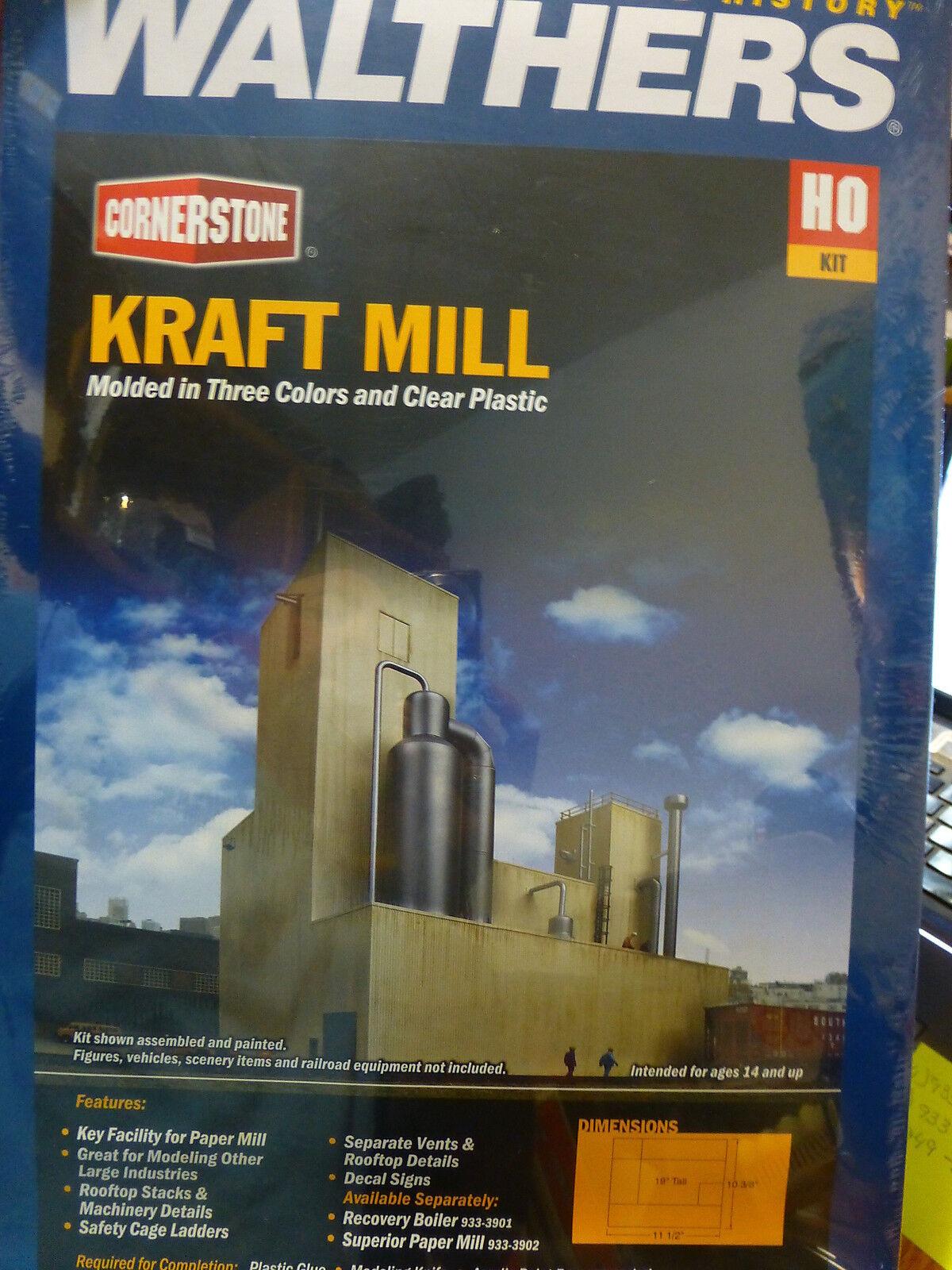 Walthers Cornerstone HO Kraft Mill - Superior Paper -- Kit Form (NEW)