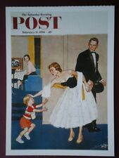 POSTCARD ADVERT SATURDAY EVENING POST F/PAGE  DATED  15 FEB 1958  - THE JOY OF P