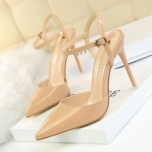 Buckle-High-Heels-Shoes-Party-Wedding-Women-Pumps-Heels-OL-Dress-Shoes-Sandals