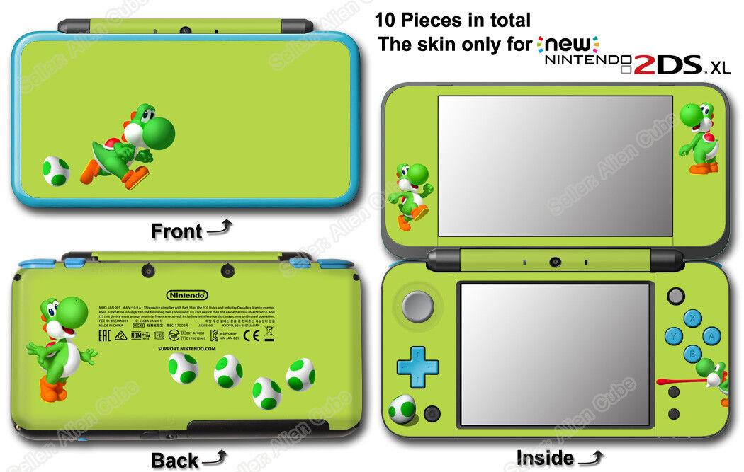 Yoshi 's New Island Lemon Edition Super Mario Skin Sticker Cover for NEW 2DS XL
