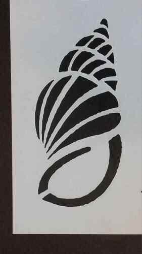 2 x cone shell Wall art decal stencils  sealife ocean