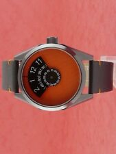 60s 70s unusual futuristic space age rare old style modern disc disk watch 102