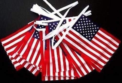 environ 20.12 m USA drapeau américain Tissu Bunting 4th Juillet Independence day Énorme 66 Ft