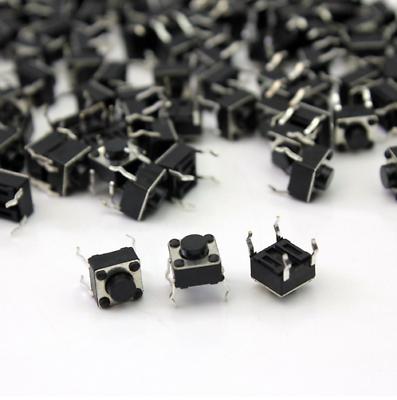 1 - 100 Drucktaster 6x6x4.3 Mm Miniatur Taster Smd Mikroschalter Print Switch
