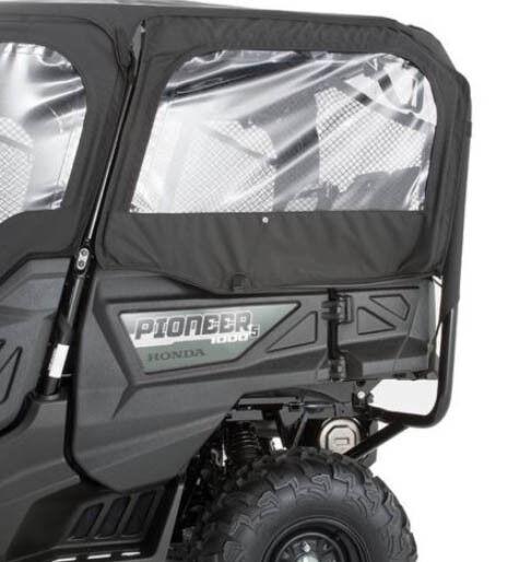 sc 1 st  eBay & Honda Pioneer 1000 5p Fabric Rear Doors Black | eBay