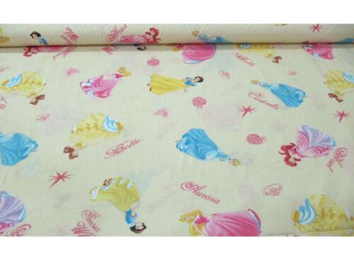 Tessuto cotone PRINCESS PRINCIPESSE H 280 cm vendita al metro Disney CR1457