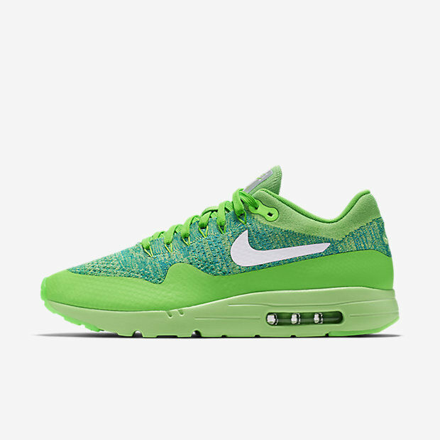 d619c8478f51 NEW Men s Nike Air Max 1 Ultra Flyknit Shoes Sneakers Size  10.5 Color   Green