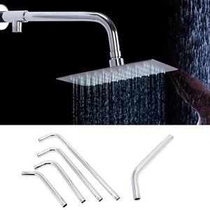 Stainless Steel Shower Head Arm Bracket Thread G1//2 Wall Mounted Tube Rainfall