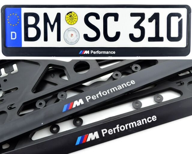 BMW Germany Standart License Plate Frames Performance Logo 2pcs