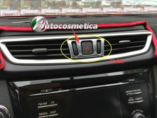 1 cornice abs satinata rotelle bocchetta aria centrale  Nissan Qashqai 14/>