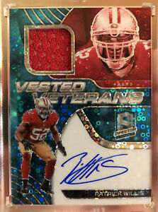 2020-Spectra-Vested-Veterans-Patch-On-Card-Auto-Neon-Blue-Patrick-Willis-25