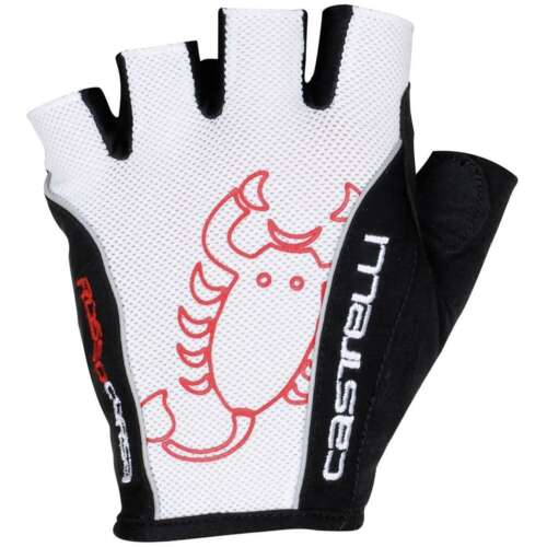 Castelli Rosso Corsa White//Black Cycling Gloves Available in different sizes