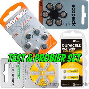 TEST-SET-fuer-Hoergeraetebatterien-4x-6Stueck-Type-frei-waehlen