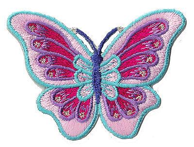 Ecusson brodé patche Papillon butterfly thermocollant déco patch custom